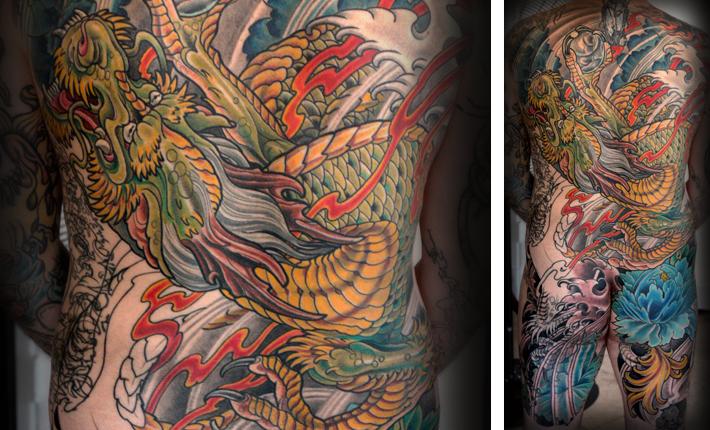 Japanese Dragon Tattoo by Terry Ribera at San Diego's best Remington Tattoo